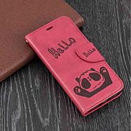 Недорогие Кейсы для iPhone 8 Plus-Кейс для Назначение Apple iPhone X / iPhone 8 Plus Кошелек / Бумажник для карт / со стендом Чехол Панда Твердый Кожа PU для iPhone X / iPhone 8 Pluss / iPhone 8
