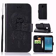 Недорогие Чехлы и кейсы для Galaxy J-Кейс для Назначение SSamsung Galaxy J2 PRO 2018 Кошелек / Бумажник для карт / со стендом Чехол Сова Твердый Кожа PU для J2 PRO 2018