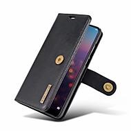 preiswerte Handyhüllen-Hülle Für Huawei P20 / P20 Pro Geldbeutel / Flipbare Hülle Ganzkörper-Gehäuse Solide Hart Echtleder für Huawei P20 / Huawei P20 Pro /