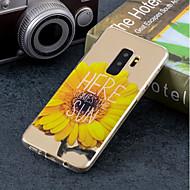 Недорогие Чехлы и кейсы для Galaxy S9 Plus-Кейс для Назначение SSamsung Galaxy S9 Plus / S9 IMD / С узором Кейс на заднюю панель Цветы Мягкий ТПУ для S9 / S9 Plus / S8 Plus