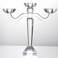 abordables Accesorios para Hogar y Mascotas-Moderno / Contemporáneo vidrio Candelabros Candelabro 1pc, Candelero / candelero