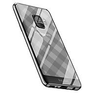 Недорогие Чехлы и кейсы для Galaxy S9-Кейс для Назначение SSamsung Galaxy S9 Plus / S9 Покрытие Кейс на заднюю панель Плитка / Геометрический рисунок Мягкий ТПУ для S9 / S9
