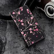 Недорогие Чехлы и кейсы для Galaxy S-Кейс для Назначение SSamsung Galaxy S9 Plus / S9 Кошелек / Бумажник для карт / со стендом Чехол Цветы Твердый Кожа PU для S9 / S9 Plus / S8 Plus