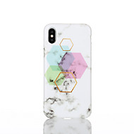 cheap -Case For Apple iPhone X / iPhone 8 IMD Back Cover Geometric Pattern Soft TPU for iPhone X / iPhone 8 Plus / iPhone 8