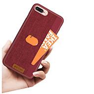 Недорогие Кейсы для iPhone 8 Plus-Кейс для Назначение Apple iPhone X / iPhone 8 Бумажник для карт Кейс на заднюю панель Однотонный / Полосы / волосы Твердый Кожа PU для iPhone X / iPhone 8 Pluss / iPhone 8