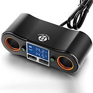 Недорогие Автомобильные зарядные устройства-Автомобиль Автомобиль USB зарядное гнездо 2 USB порта for 5 V