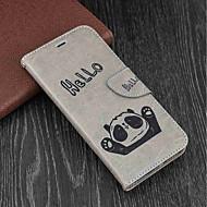 Недорогие Чехлы и кейсы для Galaxy S8 Plus-Кейс для Назначение SSamsung Galaxy S9 Plus / S9 Кошелек / Бумажник для карт / со стендом Чехол Панда Твердый Кожа PU для S9 / S9 Plus / S8 Plus