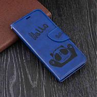 Недорогие Чехлы и кейсы для Galaxy J-Кейс для Назначение SSamsung Galaxy J6 / J4 Кошелек / Бумажник для карт / со стендом Чехол Панда Твердый Кожа PU для J6 / J4