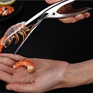 cheap Kitchen & Dining-1pc Practical Stainless Steel  Peel Shrimp Deveiner Tool Prawn Peeler Kitchen Gadgets Cooking Seafood