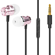 abordables Accesorios para Tablet y PC-JTX M6 En el oido Cable Auriculares Micrófono Aluminum Alloy Deporte y Fitness Auricular Con Micrófono / Confortable Auriculares