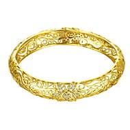 お買い得  -女性用 バングル ブレスレット  -  ゴールドメッキ フラワー ファッション ブレスレット ゴールド / ローズゴールド 用途 贈り物 日常