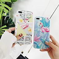 Недорогие Кейсы для iPhone 8 Plus-Кейс для Назначение Apple iPhone X / iPhone 6 С узором Кейс на заднюю панель Фламинго Мягкий ТПУ для iPhone X / iPhone 8 Pluss / iPhone 8