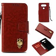 preiswerte Handyhüllen-Hülle Für LG V20 Geldbeutel / Kreditkartenfächer / mit Halterung Ganzkörper-Gehäuse Eule Hart PU-Leder für LG V20