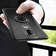 お買い得  携帯電話ケース-ケース 用途 OnePlus OnePlus 6 バンカーリング バックカバー ソリッド ソフト TPU のために OnePlus 6