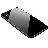 Недорогие Кейсы для iPhone 8-Кейс для Назначение Apple iPhone X / iPhone 8 Прозрачный / Магнитный Кейс на заднюю панель Однотонный Твердый Алюминий для iPhone XS / iPhone XR / iPhone XS Max