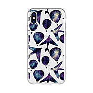 cheap -Case For Apple iPhone X / iPhone 8 Plus Pattern Back Cover Cartoon / Color Gradient Soft TPU for iPhone X / iPhone 8 Plus / iPhone 8