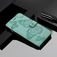 preiswerte Handyhüllen-Hülle Für Xiaomi Mi 7 / Mi 8 Geldbeutel / Kreditkartenfächer / mit Halterung Ganzkörper-Gehäuse Schmetterling Hart PU-Leder für Redmi Note 5A / Xiaomi Redmi Note 4X / Xiaomi Redmi Note 3