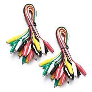 abordables Piezas de Bricolaje y Manualidades-Juego de cables de prueba de 20 piezas y 5 colores& pinzas de cocodrilo