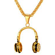 お買い得  -男性用 ロング丈 ペンダントネックレス  -  ステンレス鋼 ファッション ゴールド, シルバー 55 cm ネックレス 1個 用途 贈り物, 日常