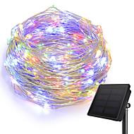 baratos Fitas e Mangueiras de LED-KWB 10m Cordões de Luzes 100 LEDs 1Setar o suporte de montagem Branco Quente / Branco / Azul Solar / Criativo / Impermeável Alimentado por Energia Solar 1conjunto