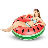 abordables Deportes Acuáticos-Sandía Colchonetas inflables para piscina PVC Duradero, Inflable Natación / Deportes acuáticos para Adultos 120*120*30 cm