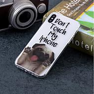Недорогие Кейсы для iPhone 8-Кейс для Назначение Apple iPhone X / iPhone 8 IMD / С узором Кейс на заднюю панель С собакой Мягкий ТПУ для iPhone X / iPhone 8 Pluss / iPhone 8