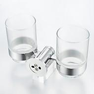 お買い得  -歯ブラシホルダー クール / 創造的 コンテンポラリー / 近代の 真鍮 / ガラス 1個 - 浴室 壁式
