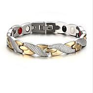 levne Šperky&Hodinky-Pánské Řetězové & Ploché Náramky - Nerez, Postříbřené, Pozlacené Haç Přizpůsobeno, Módní Náramky Zlatá / stříbrná Pro Párty Denní Ležérní