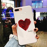 Недорогие Кейсы для iPhone 8 Plus-Кейс для Назначение Apple iPhone X / iPhone 8 Plus IMD / С узором Кейс на заднюю панель С сердцем Мягкий ТПУ для iPhone X / iPhone 8 Pluss / iPhone 8