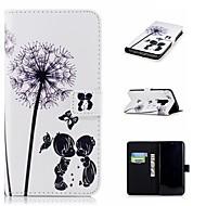 Недорогие Чехлы и кейсы для Galaxy S9 Plus-Кейс для Назначение SSamsung Galaxy S9 Plus / S9 Кошелек / Бумажник для карт / со стендом Чехол одуванчик Твердый Кожа PU для S9 / S9 Plus / S8 Plus