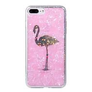 Недорогие Кейсы для iPhone 8 Plus-Кейс для Назначение Apple iPhone X / iPhone 6 С узором Кейс на заднюю панель Фламинго / Цветы Твердый ПК для iPhone X / iPhone 8 Pluss / iPhone 8