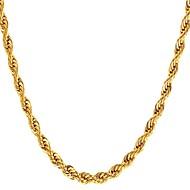 ieftine -Bărbați Coliere Choker Funie Foxtail lanț Mariner Chain Modă Teak Auriu Negru Argintiu 55 cm Coliere Bijuterii 1 buc Pentru Cadou Zilnic