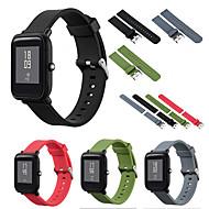 Недорогие Аксессуары для смарт-часов-Ремешок для часов для Huami Amazfit Bip Younth Watch Xiaomi Спортивный ремешок силиконовый Повязка на запястье