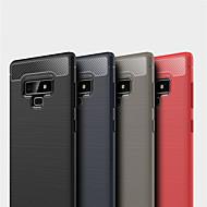 Недорогие Чехлы и кейсы для Galaxy Note-Кейс для Назначение SSamsung Galaxy Note 9 / Note 8 Рельефный Кейс на заднюю панель Однотонный Мягкий ТПУ для Note 9 / Note 8