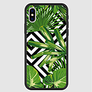 cheap -Case For Apple iPhone X / iPhone 8 Plus Pattern Back Cover Plants Hard Acrylic for iPhone X / iPhone 8 Plus / iPhone 8
