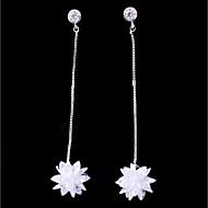 abordables Plata de ley-Mujer Zirconia Cúbica Elegante Pendientes cortos Pendientes colgantes - Simple, Moda Blanco Para Boda Cumpleaños