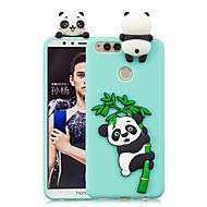 お買い得  携帯電話ケース-ケース 用途 Huawei Honor 7X / Honor 7C(Enjoy 8) DIY バックカバー パンダ ソフト TPU のために Huawei Honor 9 Lite / Honor 7X / Honor 7C(Enjoy 8)