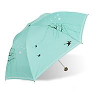 Недорогие Защита от дождя-пластик / Нержавеющая сталь Жен. Солнечный и дождливой Складные зонты