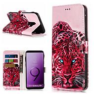 Недорогие Чехлы и кейсы для Galaxy S7 Edge-Кейс для Назначение SSamsung Galaxy S9 Plus / S9 Кошелек / Бумажник для карт / со стендом Чехол Животное Твердый Кожа PU для S9 / S9 Plus / S8 Plus