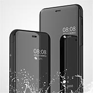 Недорогие Чехлы и кейсы для Galaxy A5(2017)-Кейс для Назначение SSamsung Galaxy A9 Star / A6 (2018) со стендом / Покрытие / Зеркальная поверхность Чехол Однотонный Твердый Кожа PU для A6 (2018) / A6+ (2018) / A3 (2017)