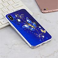 Недорогие Кейсы для iPhone 8 Plus-Кейс для Назначение Apple iPhone X / iPhone 8 Plus С узором Кейс на заднюю панель Бабочка Мягкий ТПУ для iPhone X / iPhone 8 Pluss / iPhone 8