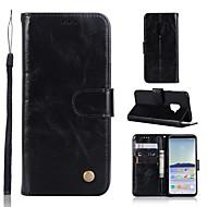 Недорогие Чехлы и кейсы для Galaxy S8 Plus-Кейс для Назначение SSamsung Galaxy S9 Plus / S9 Кошелек / Бумажник для карт / со стендом Чехол Однотонный Твердый Кожа PU для S9 / S9 Plus / S8 Plus