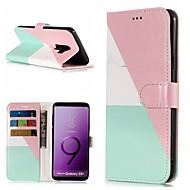 Недорогие Чехлы и кейсы для Galaxy S-Кейс для Назначение SSamsung Galaxy S9 Plus / S9 Кошелек / Бумажник для карт / со стендом Чехол Мрамор Твердый Кожа PU для S9 / S9 Plus / S8 Plus