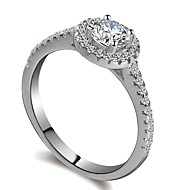 cheap -Women's Stylish Ring - Platinum Plated, Imitation Diamond Gypsophila, Heart Rate Romantic, Fashion, Elegant 5 / 6 / 7 Silver For Gift / Daily