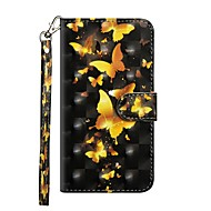 Недорогие Чехлы и кейсы для Galaxy S9 Plus-Кейс для Назначение SSamsung Galaxy S9 Plus / S8 Plus Кошелек / со стендом / Флип Чехол Бабочка Твердый Кожа PU для S9 / S9 Plus / S8 Plus