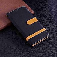 preiswerte Handyhüllen-Hülle Für Huawei Y9 (2018)(Enjoy 8 Plus) / Y6 (2017)(Nova Young) Geldbeutel / Kreditkartenfächer / mit Halterung Ganzkörper-Gehäuse Solide Hart Textil für Y9 (2018)(Enjoy 8 Plus) / Huawei Y7(Nova
