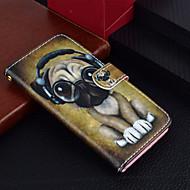Недорогие Кейсы для iPhone 8 Plus-Кейс для Назначение Apple iPhone X / iPhone 8 Plus Кошелек / Бумажник для карт / со стендом Чехол С собакой Твердый Кожа PU для iPhone X / iPhone 8 Pluss / iPhone 8