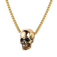 ieftine -Bărbați Coliere cu Pandativ Funie Foxtail lanț Mexican Sugar Craniu Craniu Modă satanic Teak Auriu Negru Argintiu 55 cm Coliere Bijuterii 1 buc Pentru Cadou Stradă