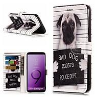 Недорогие Чехлы и кейсы для Galaxy S8 Plus-Кейс для Назначение SSamsung Galaxy S9 Plus / S9 Кошелек / Бумажник для карт / со стендом Чехол С собакой Твердый Кожа PU для S9 / S9 Plus / S8 Plus