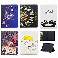 Недорогие Чехлы и кейсы для Samsung Tab-Кейс для Назначение SSamsung Galaxy Tab S3 9.7 Кошелек / Бумажник для карт / со стендом Чехол Слон Твердый Кожа PU для Tab S3 9.7